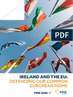 EU AND FINE GAEL ILLEGAL UNCONSTITUTIONAL IRISH ARMY Defense-Document Ireland and the EU- Defending Our Common European Home