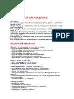 Prevencion de Recaidas Uai 2010