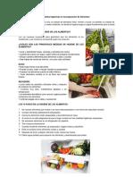 Medias Higiénicas en La Preparación de Alimentos