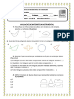 Avaliação de Matemática Instrumenta1