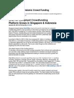ICF SEA ICF RegionalIslamic Crowdfunding in SEAArticle Islamic Crowd Funding in Singapore and Indonesia