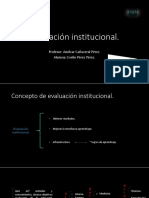 Evaluación institucional