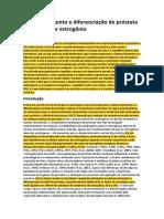 Desenvolvimento e Diferenciação de Próstata Regulados Por Estrogênio