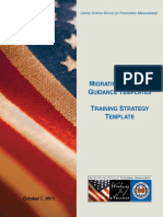 Training Strategy Template