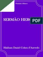 Sermão Heroico - Hakham Daniel Cohen D_azevedo