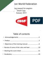 BWF Umpire Training Manual - January 2015