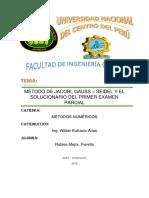 Trabajo n3 Metodo de Jacobi Gauss Seidel y La Correccion Del Examen Parcial