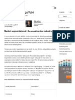 Market Segmentation in the Construction Industry - Designing Buildings Wiki