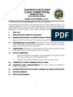 Lansing City Council info packet for Sep. 13, 2010 meeting