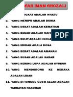 11 Fatwah Imam Ghozali