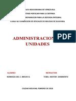 Administracion de Unidades