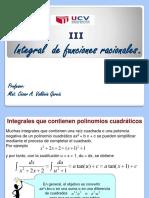 2.III.- Integral de Funciones Racionales.