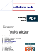 Minggu 8-9 - (1) Identifying Customer Needs