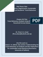 Travel Behaviour Analysis Using Scottish Household Survey Data Set