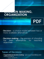 Decision Making, Organization Final