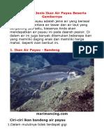 Ikan Air Laut,Tawar Dan Payau