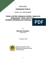 8172335 Teori Sistem Sebagai Model Analisis Kebijakan Pada Institusi Dewan 1