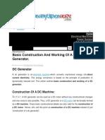 DC Generator control scheme