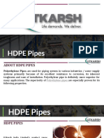 Why Choose Utkarsh HDPE Pipes
