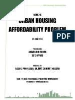 Urban Housing - Affordability Problem