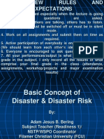 Notes # 2- Basic Concept of Disaster