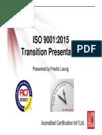 Doc ISO DIS 9001 2015 Transition Presentation