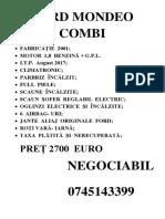 Ford Mondeo Combi - Copy