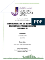Urban Transportation - Green Transportation And The Importance Of Transportation Planning In Achieving Sustainability