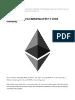 Ethereum Development Walkthrough