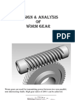 Design and Analysis of Worm Gear