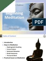 Beginning Mediation