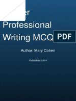 Professional Writing Mcq Quiz by Mary Morley Cohen