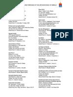 Vicariates and Parishes in RCAM