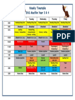 year 3 4  timetable 2017-2018 a