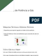 Ciclos de Potencia a Gas