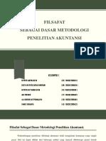 Filsafat Sebagai Dasar Metodologi Penelitian Akuntansi