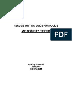 Police Resume Writing Guidelines Pdf Resume Royal Canadian