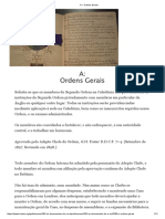 A – Ordens Gerais