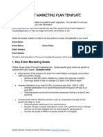 Events Marketing Plan Template