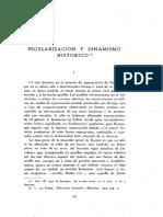 Diez Del Corral, Secularización y Dinamismo Histórico