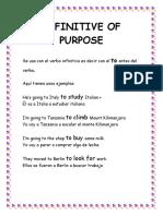 Infinitive and gerund of Purpose