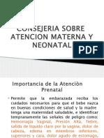 Consejeria Sobre Atencion Materna y Neonatal