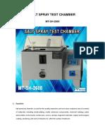 MT-SH-2600 Salt Spray Test Chamber