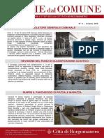 Notizie Dal Comune di Borgomanero del 8 Marzo 2018