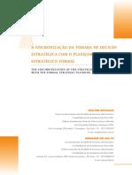 A Sincronização Da Toamada de Decisão Estratégica Com o Planejamento Estratégico Formal