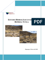 Estudio Hidrologico Represa Yunga