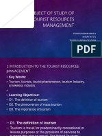 THE SUBJECT OF STUDY OF THE TOURIST RESOURCES MANAGEMENT​