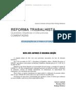 Atualização - Reforma Trabalhista