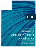 Learning and the Control of Behavior