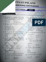 BITSAT 2005 Solved Question Paper.pdf